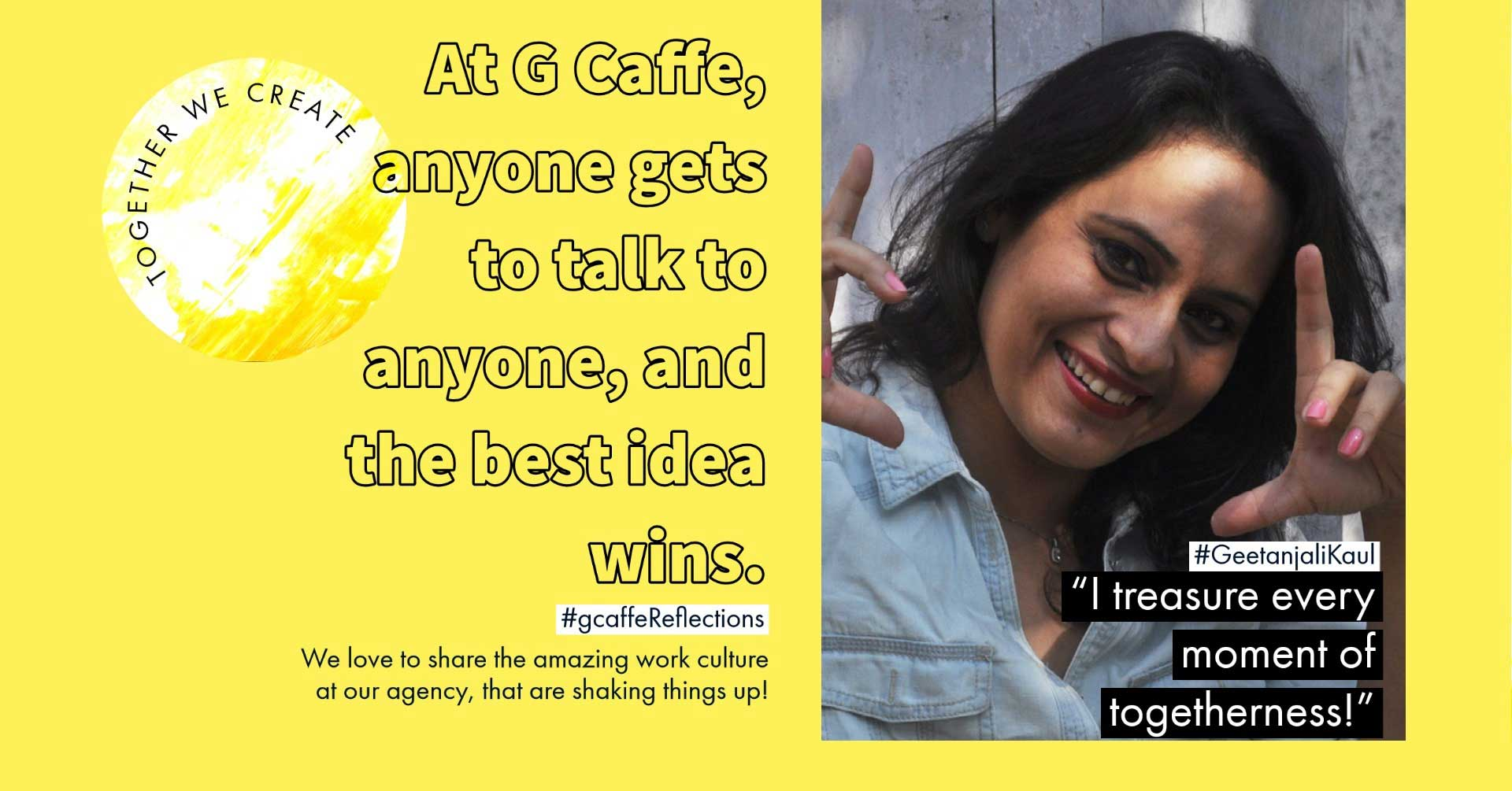 G Caffe creative agency company culture